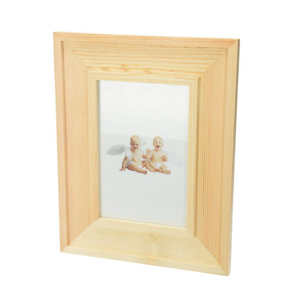 Bilderrahmen Holz, Mosaix, 18,5 x 23 x 1,2 cm, roh-1432669